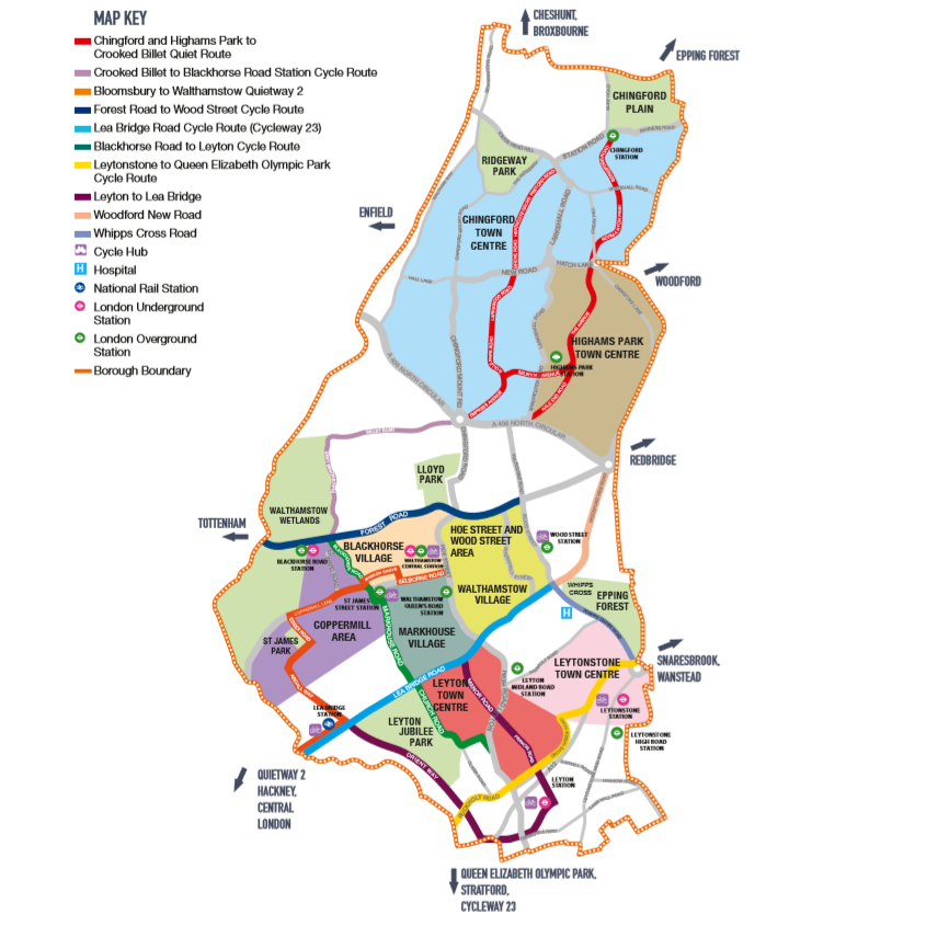 Walking and Cycling Map - 2020